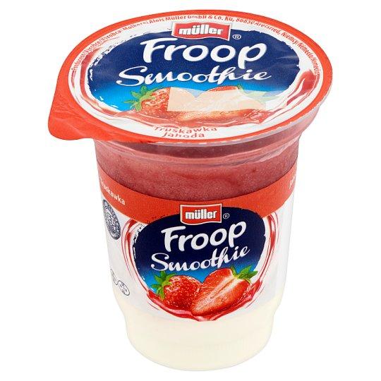 Müller Froop Smoothie desszert élőflórás joghurtból és rétegzett eper gyümölcskészítménnyel 150 g