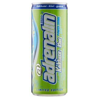 Adrenalin Power Drink kaktusz-kiwi-guava ízű szénasavas üdítőital koffeinnel 250 ml