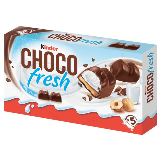 Kinder Choco Fresh Milky and Hazelnut Cream Filled Milk Chocolate 5 pcs 102,5 g