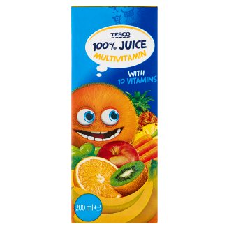 Tesco Multivitamin Fruit Juice with Carrot and Added Vitamin 200 ml