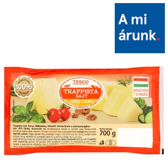Tesco Halved Trappist Cheese 700 g