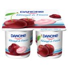 Danone Sour Cherry Flavoured Low-Fat Yoghurt with Live Cultures 4 x 125 g