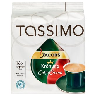 Tassimo Jacobs Krönung T Disc Caffé Crema Grounded, Roasted Coffee 16 pcs 104 g