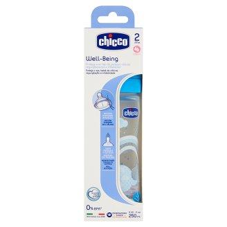 Chicco Well-Being 250 ml-es műanyag cumisüveg 2 hónapos kortól