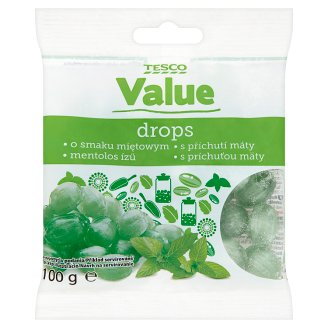Tesco Value Menthol Flavoured Drops 100 g