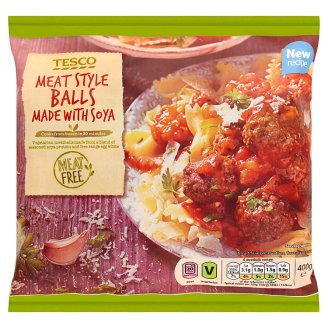 Tesco Quick-Frozen Meat Style Balls Made with Soya 400 g