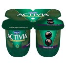 Danone Activia Low-Fat Red Black Currant Yoghurt with Live Cultures 4 x 125 g