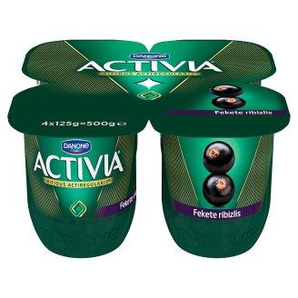Danone Activia élőflórás, zsírszegény fekete ribizlis joghurt 4 x 125 g