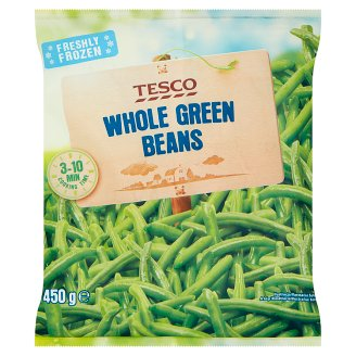 Tesco Quick-Frozen Whole Green Beans 450 g