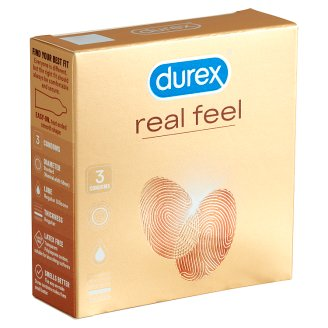 Durex Real Feel óvszer 3 db