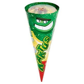 Kaktus Pineapple-Lemon Flavoured Ice Cream in Cone with Green Coating 110 ml