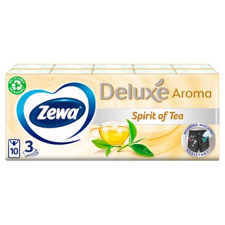Zewa Deluxe Spirit Of Tea Scented Handkerchiefs 3 Ply 10 x 10 pcs