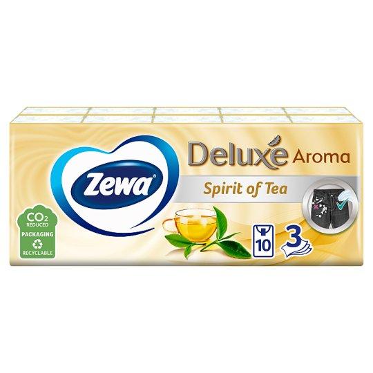 Zewa Deluxe Spirit Of Tea Scented Handkerchiefs 3 Ply 10 x 10 pcs