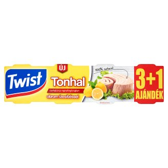 Twist Tuna Tribe in Sunflower Oil with Lemon Flavour 4 pcs 320 g