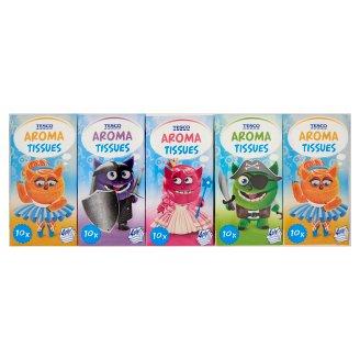 Tesco Kids Fragrant Handkerchief 4 Ply 10 x 10 pcs