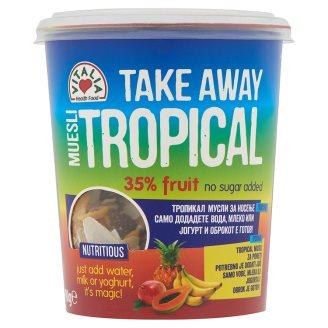Vitalia Take Away Tropical müzli trópusi gyümölcsökkel 90 g