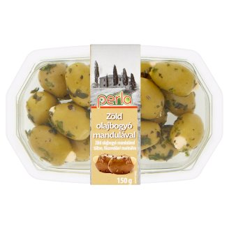 Perla Antipasti Green Olives with Almond 150 g