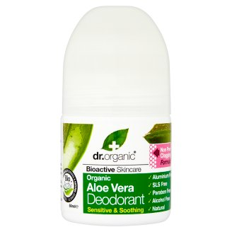 Dr. Organic Bioactive Skincare Aluminium-Free Roll-On Deodorant with Organic Aloe Vera 50 ml