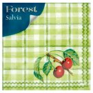 Forest Salvia Patterned Napkins 1 Ply 33 x 33 cm 45 pcs