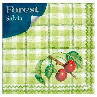 Forest Salvia Patterned Napkins 1 Ply 33 x 33 cm 45 pcs