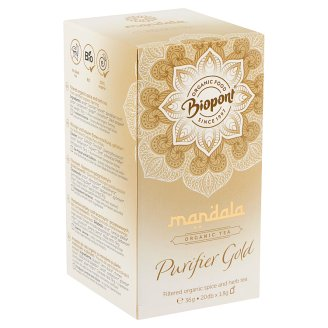 Biopont Mandala Purifier Gold Filtered Organic Spice and Herb Tea 20 Tea Bags 36 g
