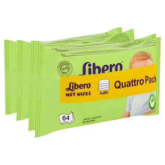Libero Wet Wipes 4 x 64 pcs