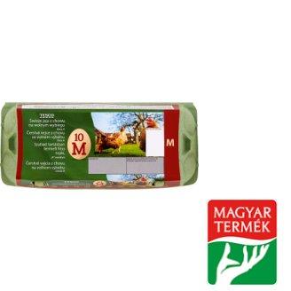 "Tesco ""A"" Quality, Free-Range Fresh Eggs M 10 pcs"