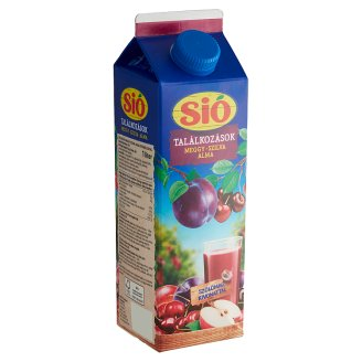 Sió Pulpy Sour Cherry-Plum-Apple Drink with Buckthorn Extract 1 l