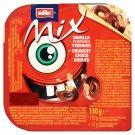 Müller Mix Monster Red vanília ízű joghurt csokoládéval bevont gabonakarikákkal 130 g