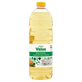 Tesco Value finomított napraforgó étolaj 1 l