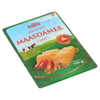 Hajdú Maasdammer Sliced Cheese 125g