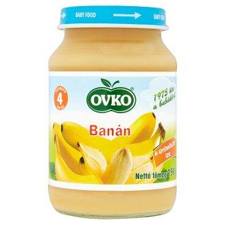 Ovko glutén- és tejszármazékmentes banán bébidesszert 4 hónapos kortól 190 g