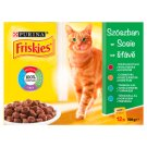 Friskies Saucy Collection Cat Food with Beef, Chicken, Tuna and Cod 12 x 100 g