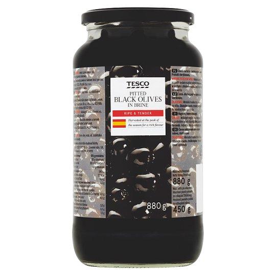 Tesco magozott, fekete olívabogyó 880 g