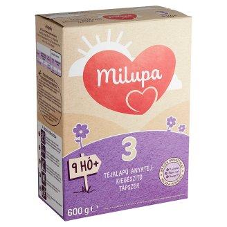 Milupa 3 tejalapú, anyatej-kiegészítő tápszer 9 hó+ 600 g