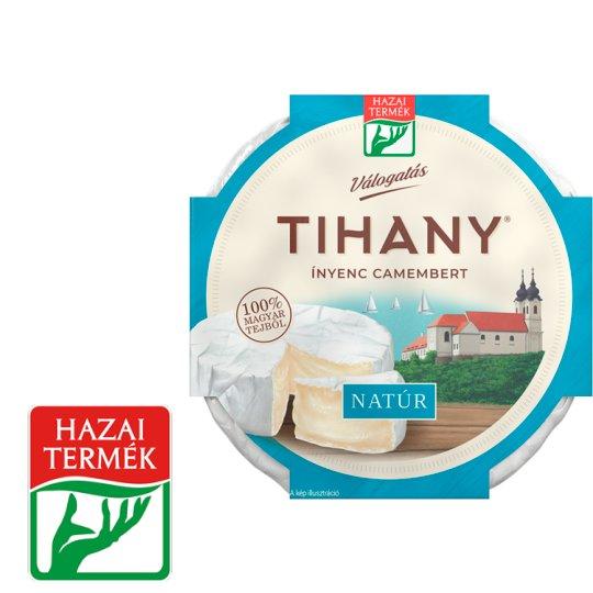 Tihany Válogatás Ínyenc Camembert natúr zsírdús lágysajt 125 g