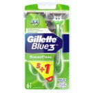 Gillette Blue3 Sensitive Men's Disposable Razors, 6 Pack