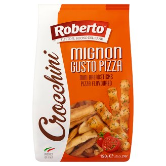 Roberto Mini Breadsticks with Palm Oil, Tomato and Oregano 150 g