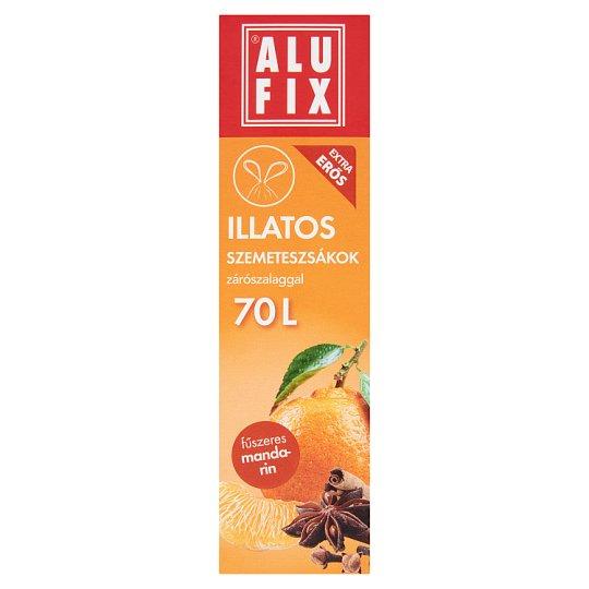 Alufix 70 literes fűszeres mandarin illatú szemeteszsákok zárószalaggal 8 db