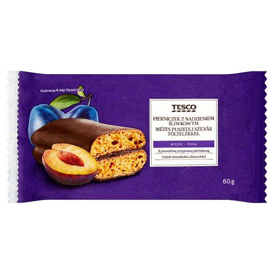 Tesco Honey Gingerbread with Plum Filling 60 g