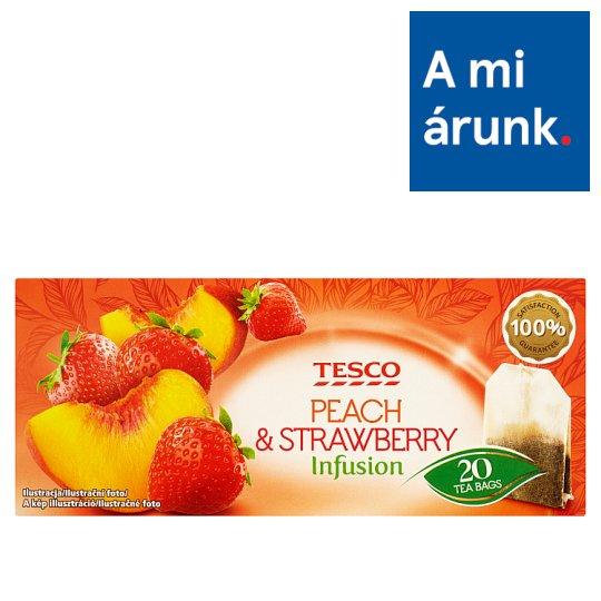 Tesco Peach & Strawberry Infusion teakeverék eper és őszibarack ízesítéssel 20 filter 40 g