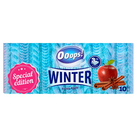 Ooops! Winter Frosty Apple papír zsebkendő 3 rétegű 10 x 10 db