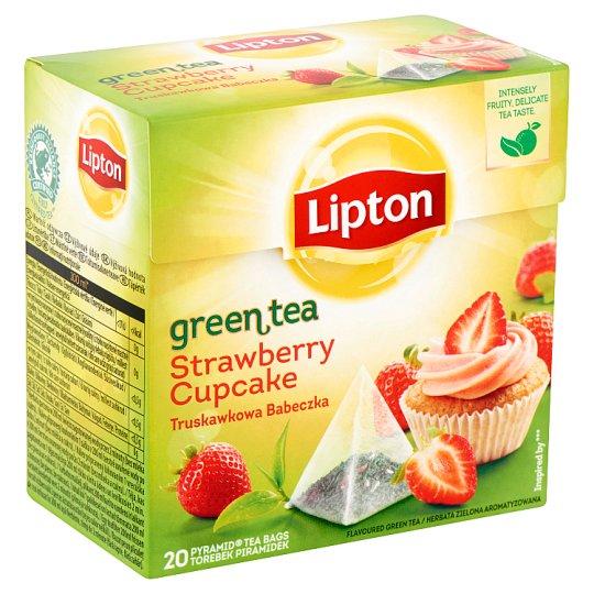Lipton Strawberry Cupcake Flavoured Green Tea 20 Pyramid Tea Bags
