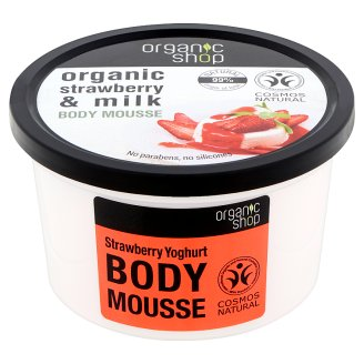 Organic Shop Organic Strawberry Yoghurt Body Mousse 250 ml