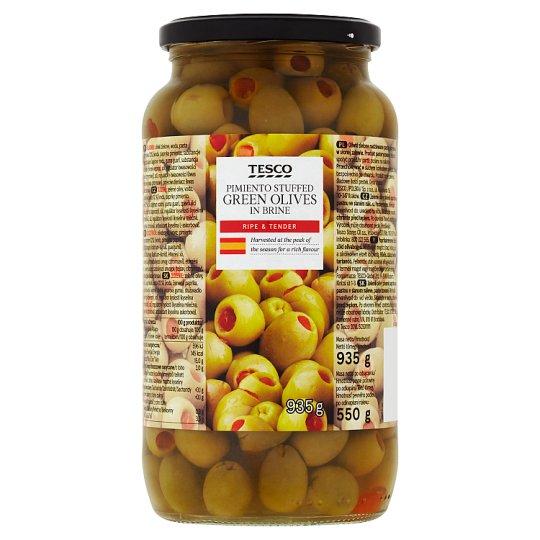 Tesco paprikakrémmel töltött zöld olívabogyó 935 g