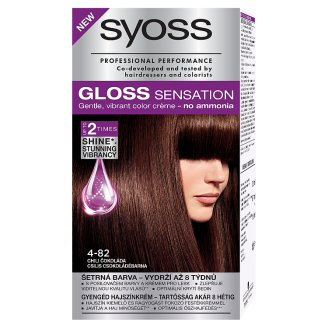 Syoss Gloss Sensation 4-82 Chili Chocolate Brown Permanent Hair Colorant