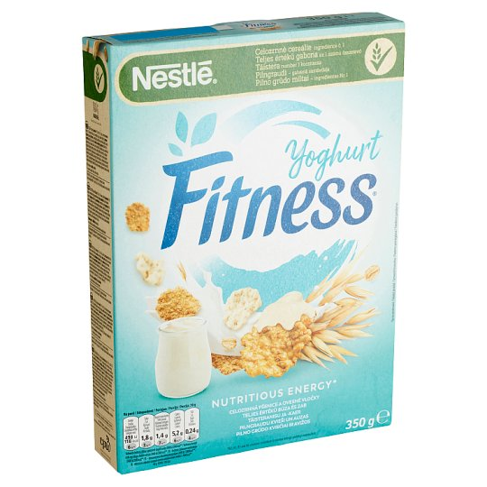 Nestlé Fitness Unflavoured and Yoghurt Covered Cereal with Whole Wheat and Oat 350 g
