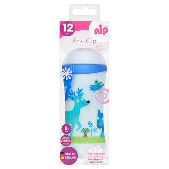 NIP 330 ml First Cup with Anti-Colic Silicon Spout 12+ Months