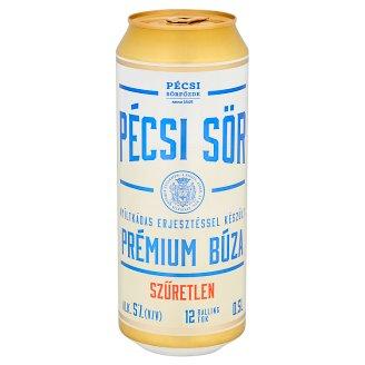 Pécsi Sör Premium Wheat Premium Unfiltered Lager Beer 5% 0,5 l