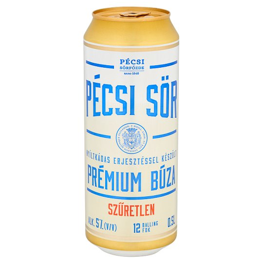 Pécsi Sör Premium Wheat Premium Unfiltered Lager Beer 5% 0,5 l